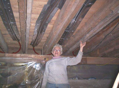 crawl space attic ideas - The Floor Joist Installation