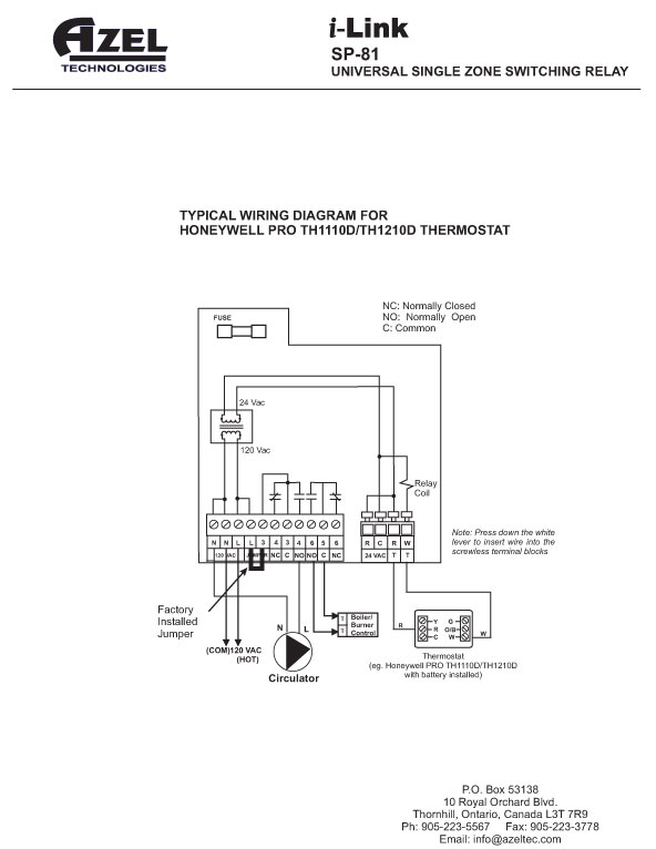 sp81instruction honeywell circulator relay wiring diagram circuit and schematics honeywell ra89a wiring diagram at panicattacktreatment.co