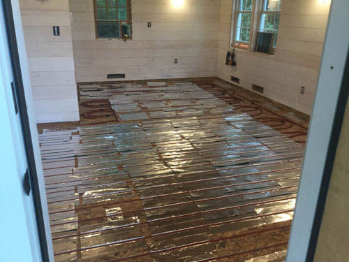 The Above Floorsuspended Slab Installation Diy Radiant Floor